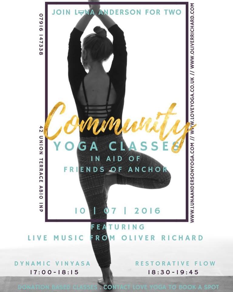 Oliver Richard Improvised Live Music Yoga Class 2016, Aberdeen